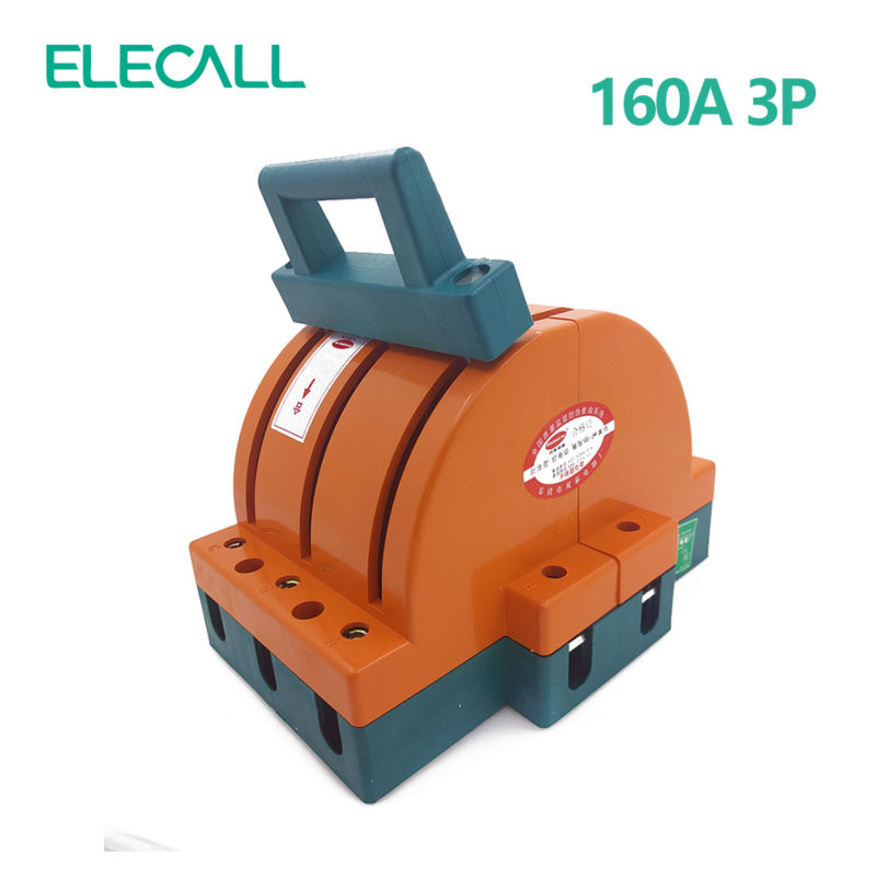 ФОТО Wholesale Heavy Duty 160A Three Poles Double Throw Knife Disconnect Switch Delivered Safety Knife Blade Switches