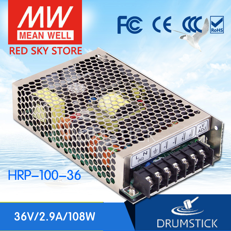 Selling Hot MEAN WELL HRP-100-36 36V 2.9A meanwell HRP-100 36V 104.4W Single Output with PFC Function Power Supply mean well original hrp 75 36 36v 2 1a meanwell hrp 75 36v 75 6w single output with pfc function power supply