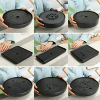 New arrival square and round ceramic tea tray kung fu tea table Chinese tea Room ceremony tools Tea Board