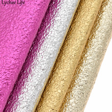 Lychee Life 21X15cm Oil Sands Textured Faux Leather Fabric Colorful DIY Handmade Sew Clothes Accessories Supplies