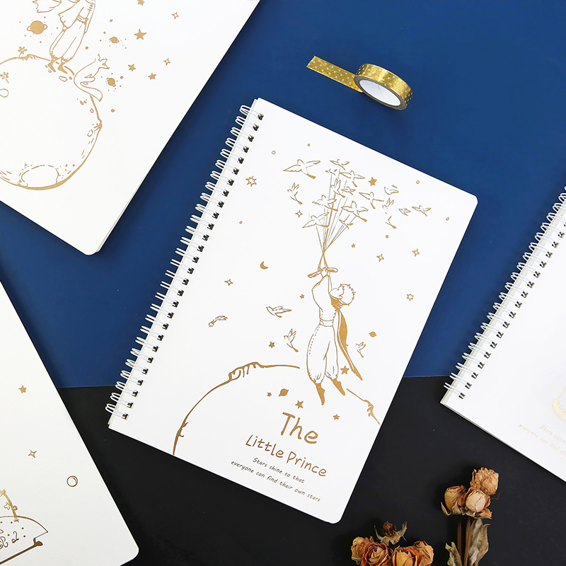The Little Prince Theme Coil <font><b>Notebook</b></font> <font><b>B5</b></font> <font><b>Lined</b></font> Paper Book 68 Sheets image