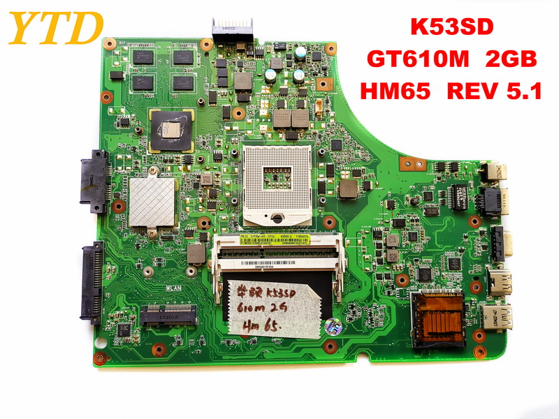 Original for ASUS K53SD laptop motherboard K53SD  GT610M  2GB  HM65  REV 5.1 tested good free shippingOriginal for ASUS K53SD laptop motherboard K53SD  GT610M  2GB  HM65  REV 5.1 tested good free shipping