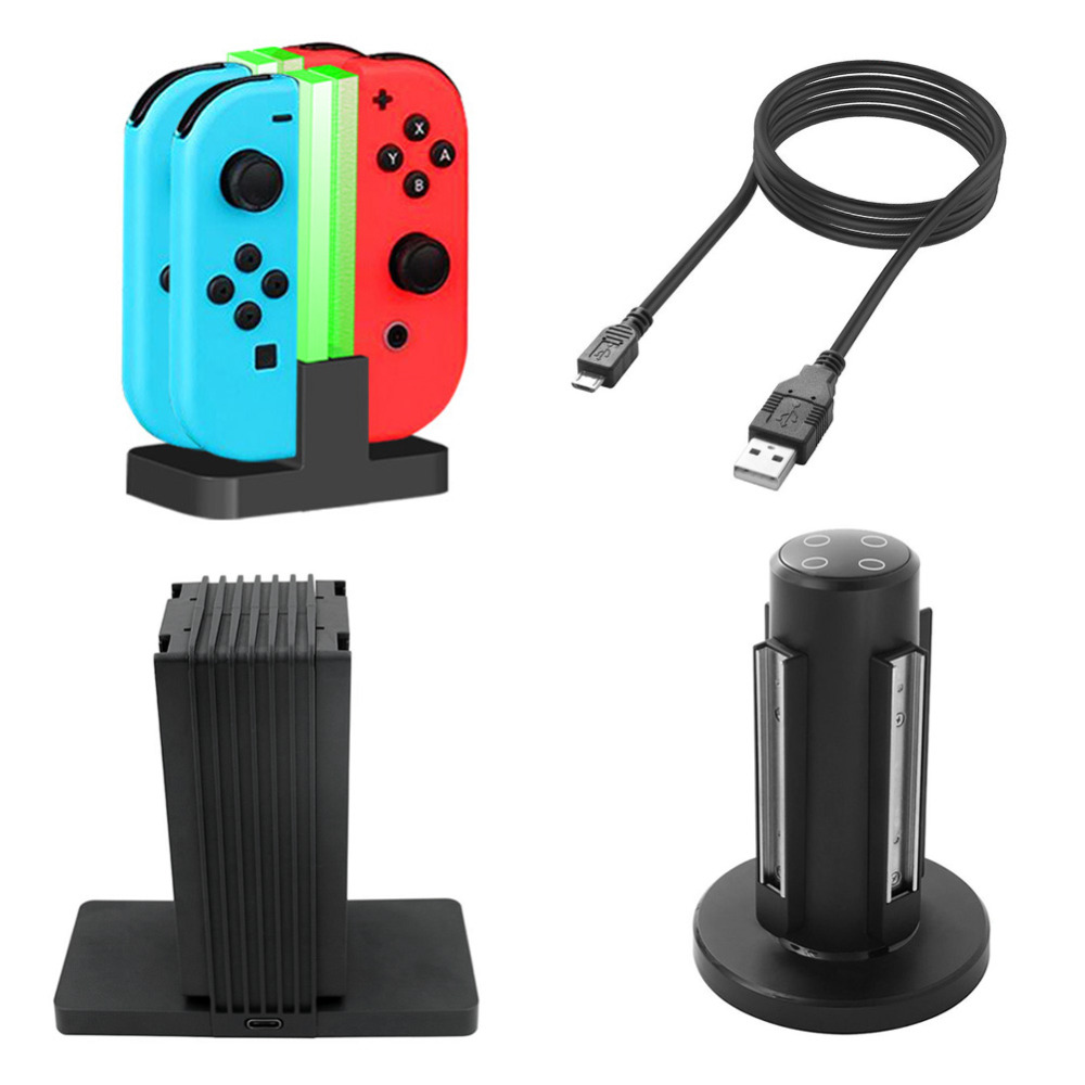 New Charging Dock Station Stand With LED Indication Charger for Nintend Switch Console Joy-Con Pro Controller GDeals