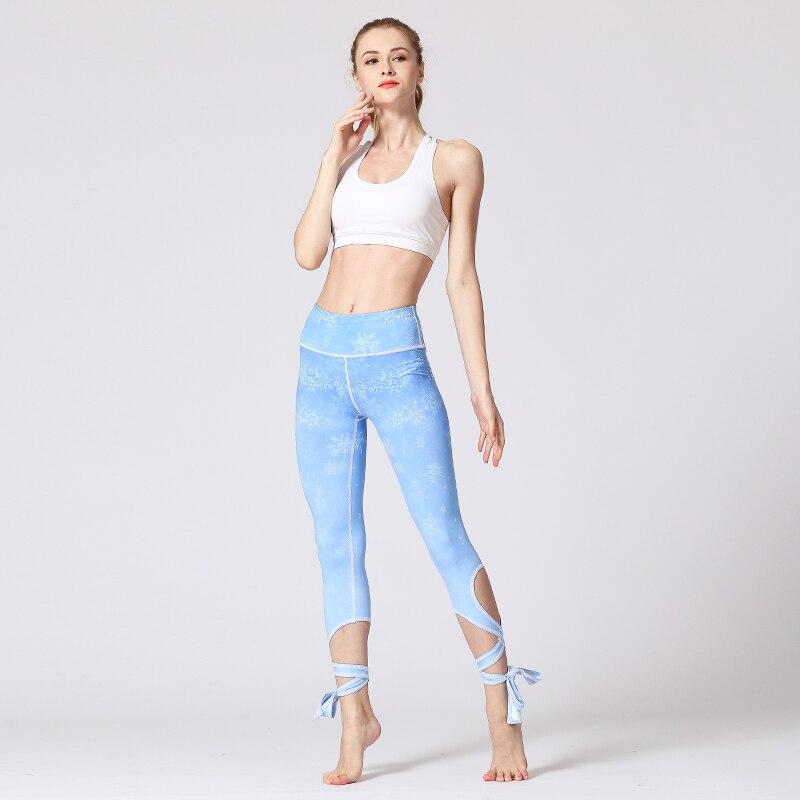 Yoga Pants Leggings sport fitness Women Running Sports Activewear Bandage Tie Legging Female Plus Size leginsy sportowe damskie  1