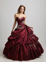 Cecelle 2019 Vintage Gothic Burgundy Royal Blue Ball Gown Wedding Dresses Sweetheart Corset Princess Quinceanera Bridal Gowns