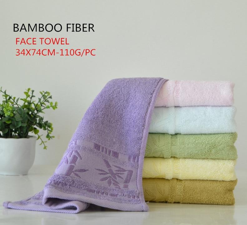100% Bamboo Super comfortable Pretty pattern fiber face towel High Water-absorbent 34x75cm towels bathroom super soft