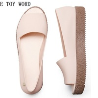 The New 2018 Hole Hole Shoes Female Summer Beach Jelly Gradient Pregnant Women Antiskid Flat Sandals
