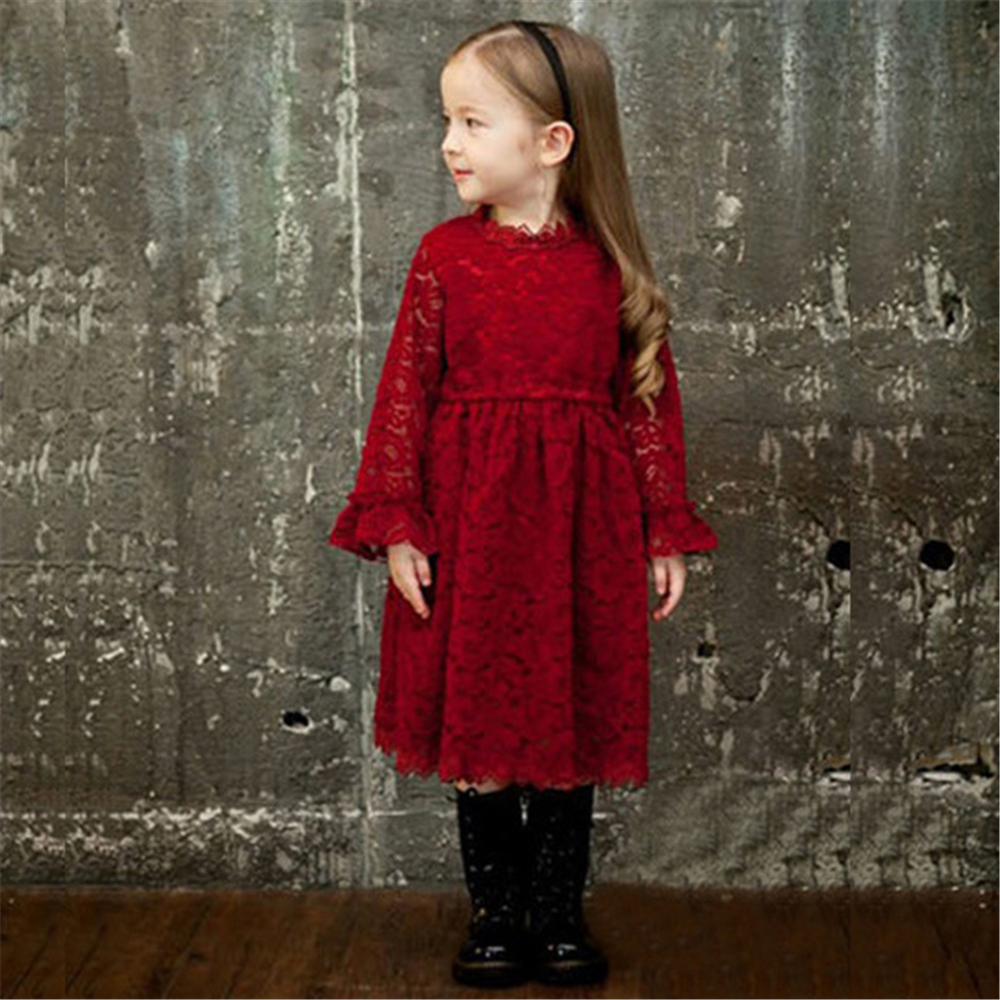 Baby Kids Lace Princess Dress for Girl Wedding Party Pageant Costume Big Girl Ball Gowns Gilrs Full Sleeve Elegant Vestidos 2-8y dress coat traditional chinese style qipao full sleeve cheongsam costume party dress quilted princess dress cotton kids clothing