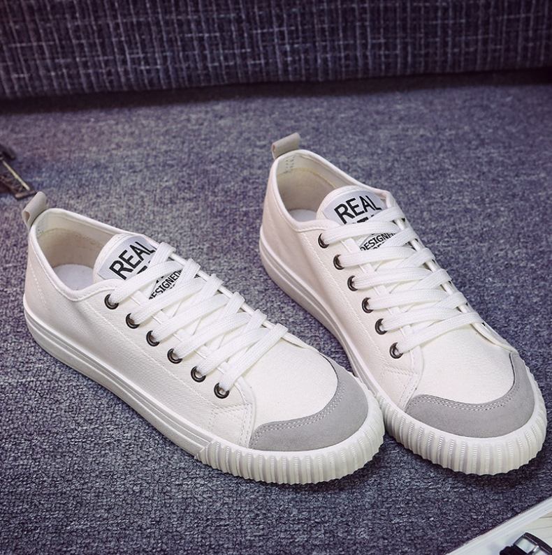 Plat Couple Étudiants Casual Noir Chaussures Zll372 2018 Blanc Toile Mode Conseil Noir Hommes blanc Huanqiu Printemps Nouveau gZxI0qq8w