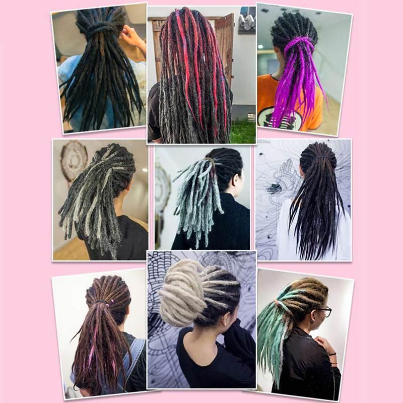 купить✲  Роскошные 1 прядь ручной работы хип-хоп дреды наращивание волос вязание крючком локс синтетические