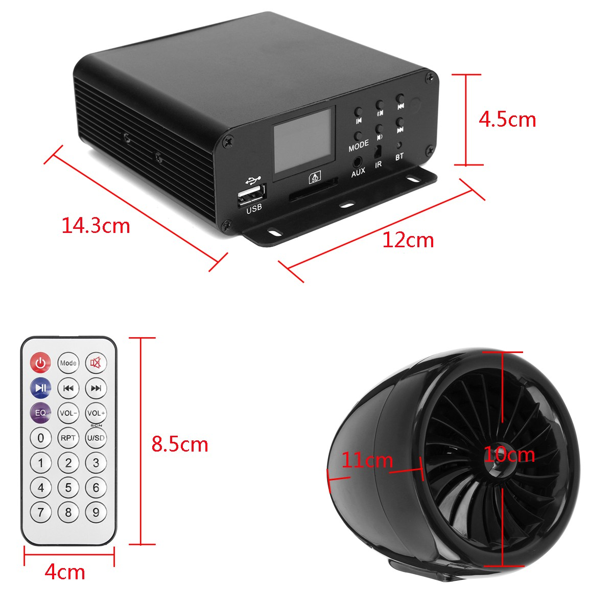 Mofaner 12v Lcd Motorbike Audio Bluetooth 4 Speakers Amplifier System Handlebar For Atv 1000w In Motorcycle From Automobiles Motorcycles