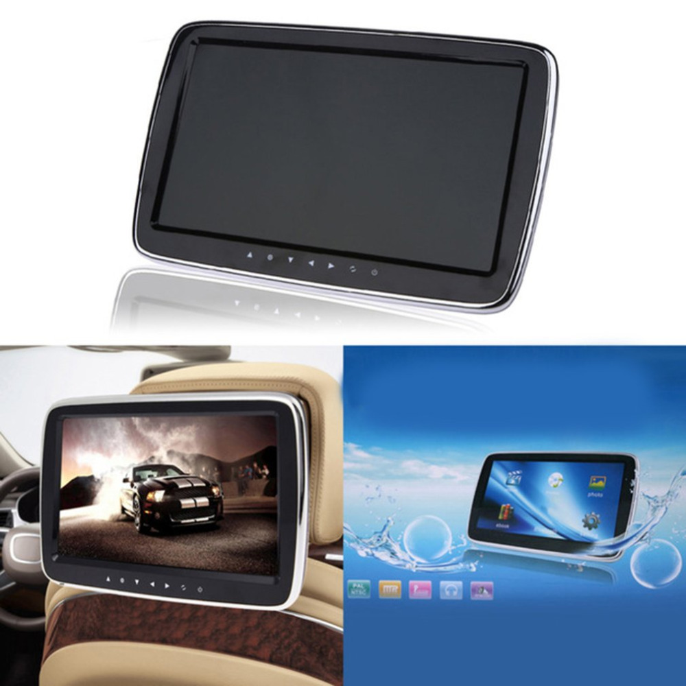 Car Headrest Monitor 9inch 10inch HD LCD Screen Digital MP5 Player Touch Button Remote With Control USB/SD/FM Transmitter 9 inch car headrest mount dvd player digital multimedia player hdmi 800 x 480 lcd screen audio video usb speaker remote control