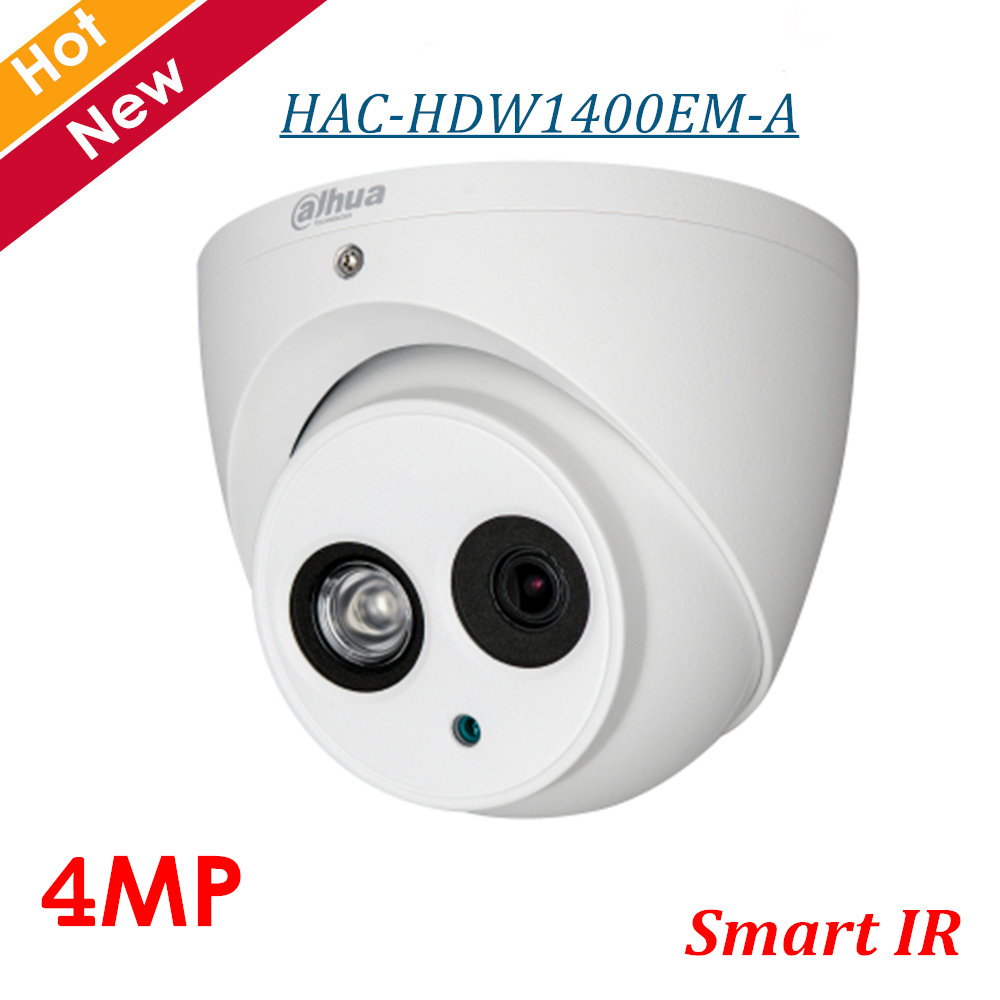 4MP Dahua CCTV Security Camera HDCVI IR Eyeball Camera IP67 HAC HDW1400EM A IP67 IR Distance