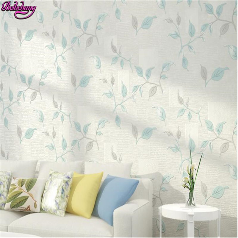 beibehang Rural non woven wallpaper papel de parede American retro living room TV background wall paper 3D leaves 3d wallpaper beibehang papel de parede retro classic apple tree bird wallpaper bedroom living room background non woven pastoral wall paper