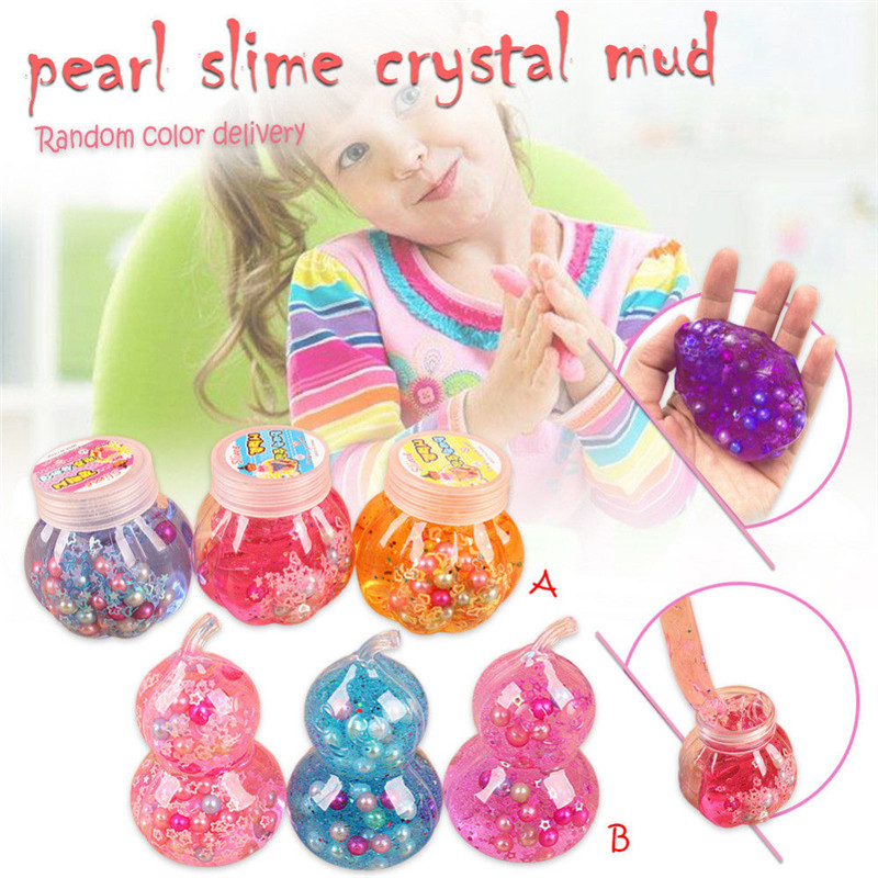DIY Colorful Modeling Clay Mud Fluffy Floam Slime Bead Non-toxic Kids Stress Relief Toy Mud Crafts