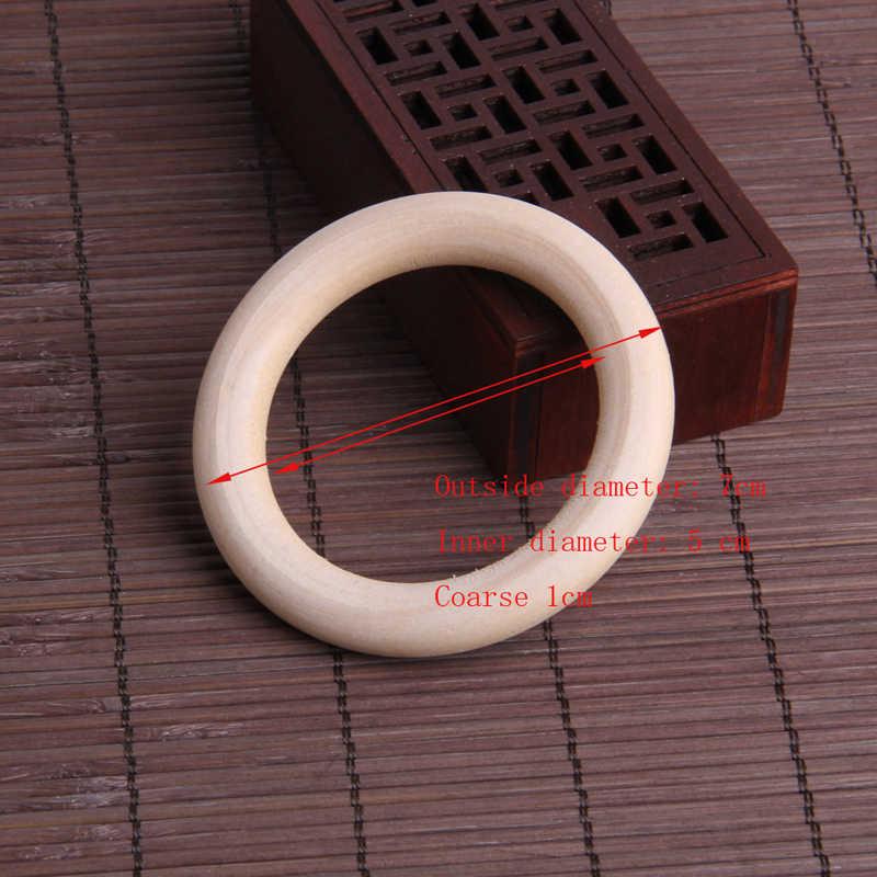 5 قطعة 70 مللي متر الطفل خشبية التسنين خواتم قلادة سوار Crafts بها بنفسك الحرف الطبيعية جديد