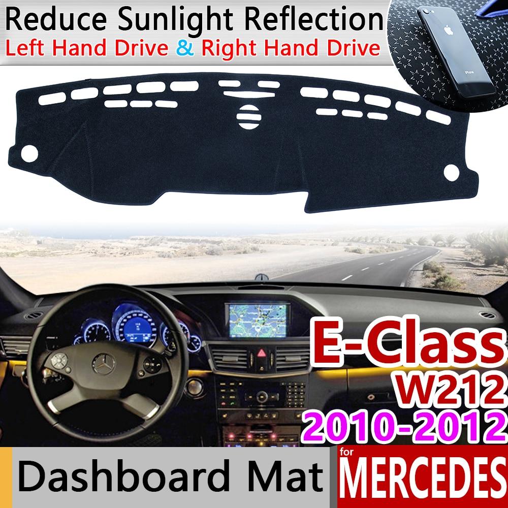 For Mercedes Benz E-Class W212 Anti-Slip Mat Dashboard Cover Pad Sunshade Dashmat Accessories E-Klasse E200 E250 E300 E220d AMG