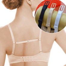 Double-shoulder strap slip-resistant belt buckle shoulder strap bra with back hasp non-slip New 3 Colors