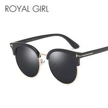ROYAL GIRL Polarized Sunglasses Women Brand Designer Classic Sun Glasses Men T Frame Unisex Coating Oculos De sol UV400 MS067