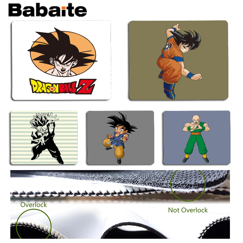 Babaite Simple Design Dragon ball Z Goku Customized MousePads Computer Laptop Anime Mouse Mat Size for 180x220x2mm