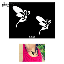 1 Piece Small Henna Tattoo Stencil Body Hands Art Butterfly Paste Drawing Design For Women DIY Tattoo Stencil Style S501