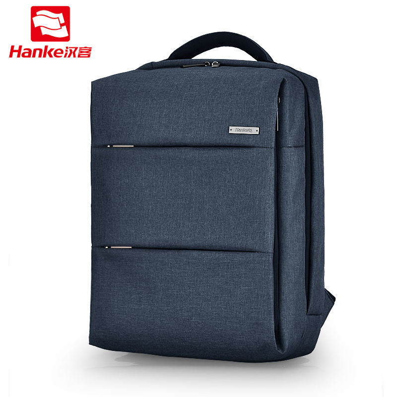Hanke Fashion Laptop Backpack Men Women with PVC Waterproof pocket College Student School BookBag Casual Daypack Travel Bags hanke 2018 women backpack student school bag for teenager girl fashion shoulder bags small bagpack female casual travel daypack