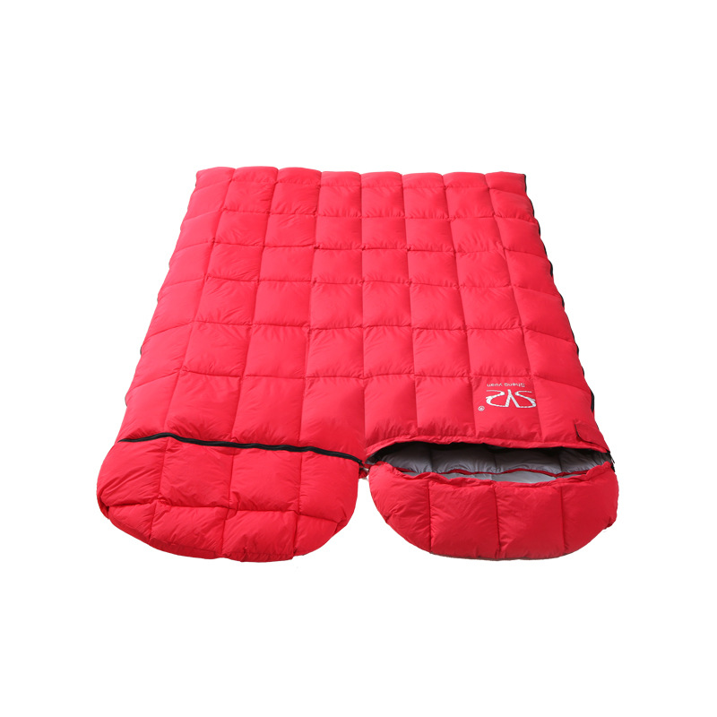 Lengthened Mummy Sleeping Bag Ultralight White Goose Down Box Baffles Winter Outdoor Camping Hiking(180+30)*73cm