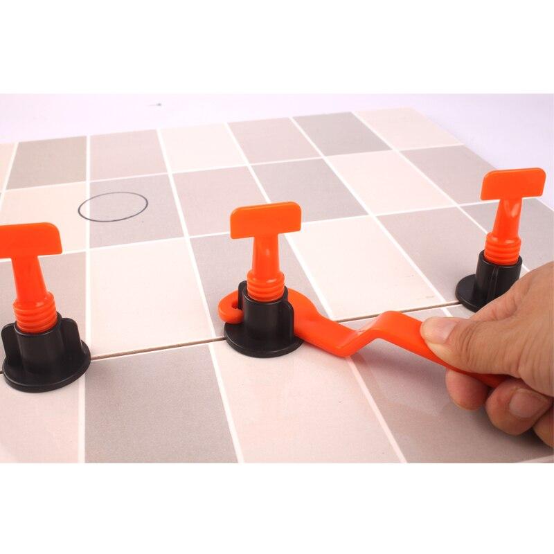 Baijiaye 50pcs Tile Leveling System Reusable Tile Levelers Spacers con Azulejos de Cer/ámica de Pl/ástico Herramientas y 1 Llave de Plastico,para Suelos de construcci/ón Cuarta generaci/ón
