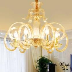 Европейские Роскошные Золотой хрустальный канделябр гостиная столовая спальня французский Романтический светодиодный Люстра из