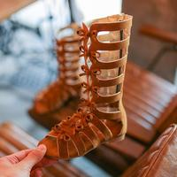 2018summer fashion Roman boots High top girls sandals kids gladiator sandals toddler child sandals girls high quality shoes boot