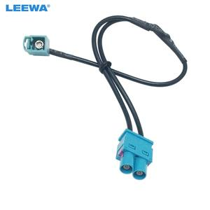 LEEWA CA5791 1 Female To 2 Male FAKRA II Radio Antenna With Booster Adapter For Volkswagen