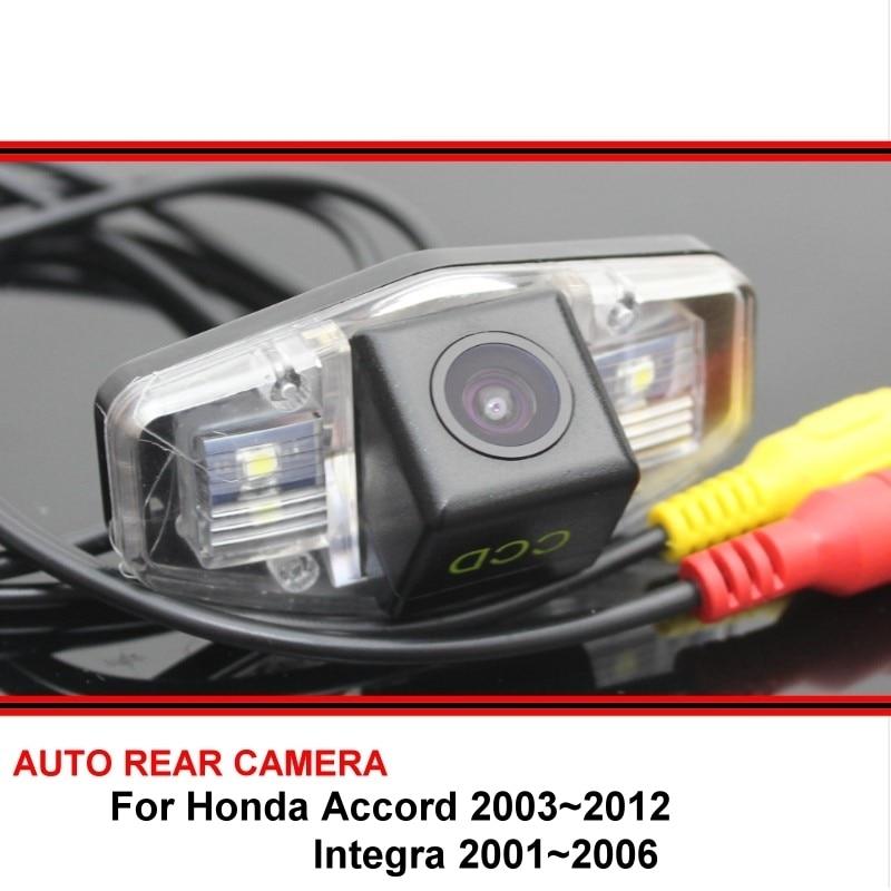 For Honda Accord 2003~2012 Integra 2001~2006 Rear View Camera Back Up Reverse Camera Car Parking Camera CCD Night Vision