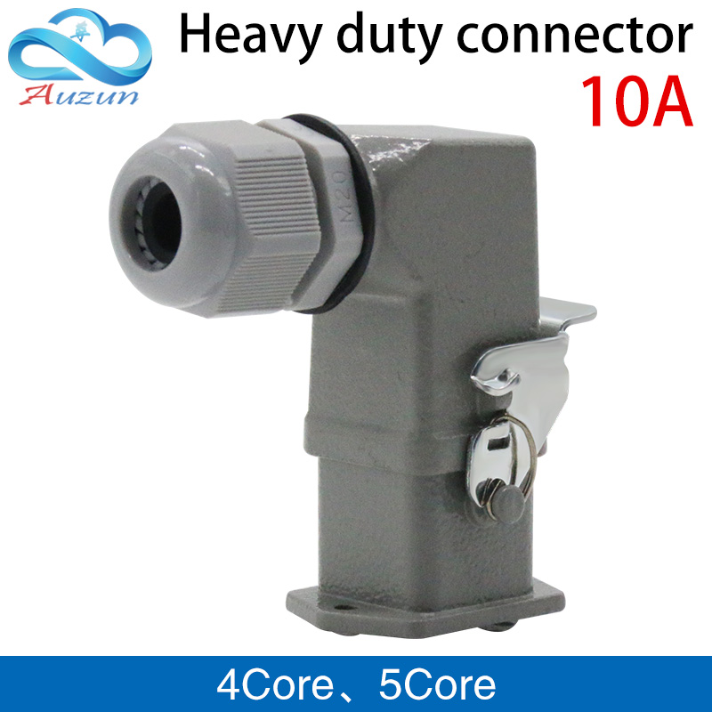 Heavy-duty connector 4 (3 + 1)core 5(4+1)core 10A 250V  HA-004-1 elbow plug in the hot channel flow