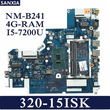 KEFU DG421 DG521 DG721 NM-B241 Laptop motherboard for Lenovo 320-15ISK Test original mainboard 4G-RAM I5-7200U