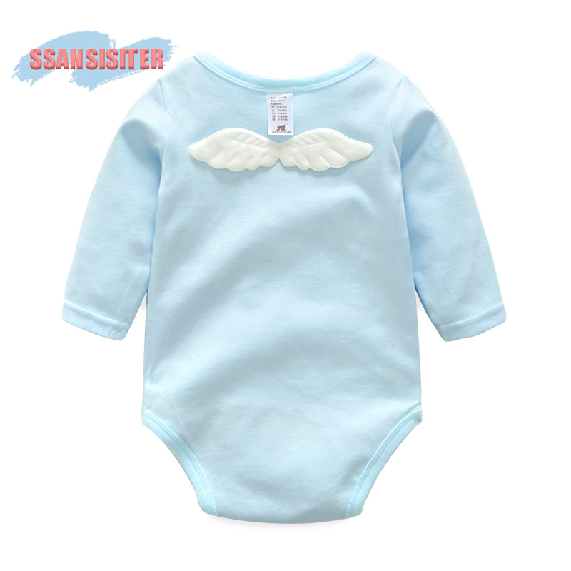 Newborn Wing Babies Romper Cute Infant Baby Girls Boys Clothing Long Sleeve Kid Toddler Suits Children