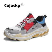 Cajacky High Quality Sneakers Men Summer New Unisex Casual Shoes Hot Fashion Top Massage Krasovki Men Lace Up Zapatos Hombre