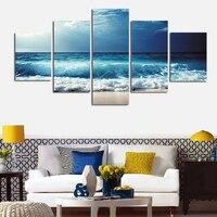5 Stücke Leinwand Seascape Gemälde Moderne Modulare Bild Kunstdruck Poster Ocean Home Dekoration für Wohnzimmer Gerahmte