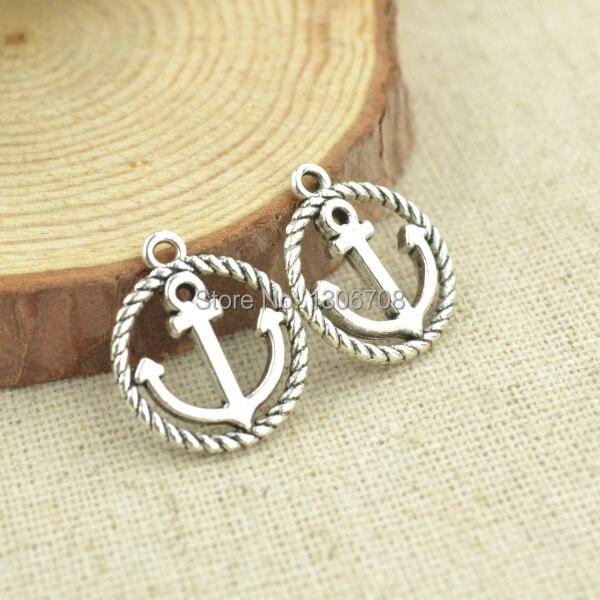261f272e928b Hot 100 pcs collier et bracelets faire pour métal ancrage charms argent  tibétain pendentifs bijou bricolage et composants 3060