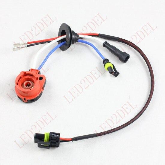 D2S D2R D2C D4S D4R D4 Hidupkan AMP HID Konektor Xenon Wiring Harness - Lampu mobil - Foto 6