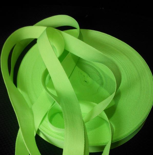 5cm*100m Fluorescent green safety warning webbing polyester warning tape