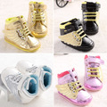 Soft Non-slip PU Newborn Baby First Walkers Shoe Infant Child Gold Pony Wing Toddler Boots Boy Girl Angel Wings Booties 0-2T