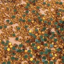 ZOTOONE Hot Fix Flat Back Yellow Rhinestone Stones And Crystals Diamond Rhinestones For Clothing Phone DIY Strass Applique E