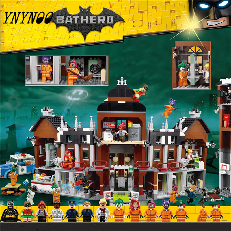 (YNYNOO)1628Pcs 07055 Genuine Batman Series Batman Movie Arkham Asylum Building Blocks Bricks Toys with 70912 gift