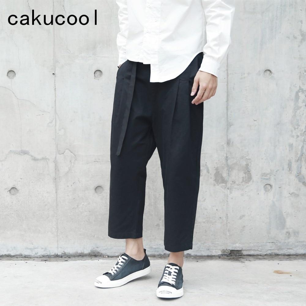 Cakucool nouveau Harajuku noir Long pantalon femmes printemps japonais Harem pantalon lâche slip unisexe pantalon Capris Femme grande taille