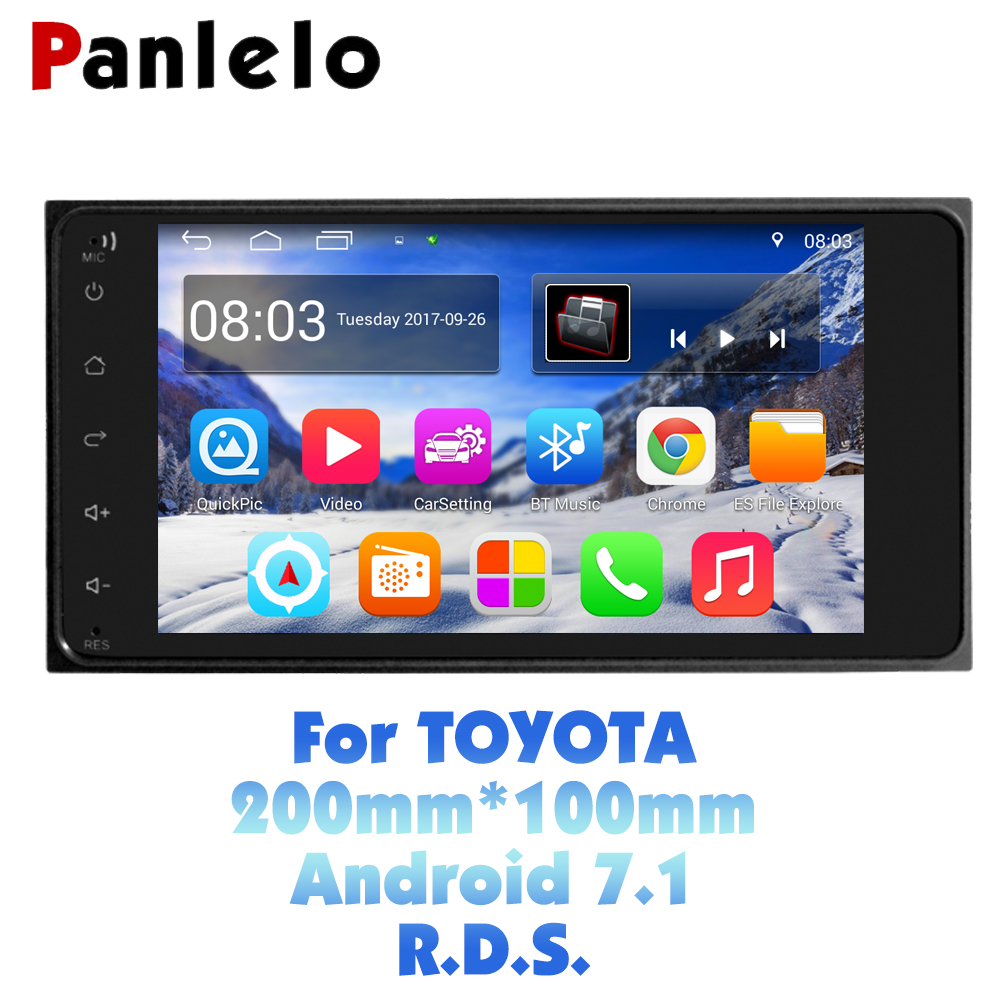 Panlelo S11 For Toyota 2 Din Android Car Stereo 7 1080P Autoradio Quad Core 2din Android Head Unit GPS Navigation 200*100 Radio panlelo 2 din android 6 0 car stereo 7 inch quad core head unit 1080p gps navigation audio radio built in wi fi bluetooth rds