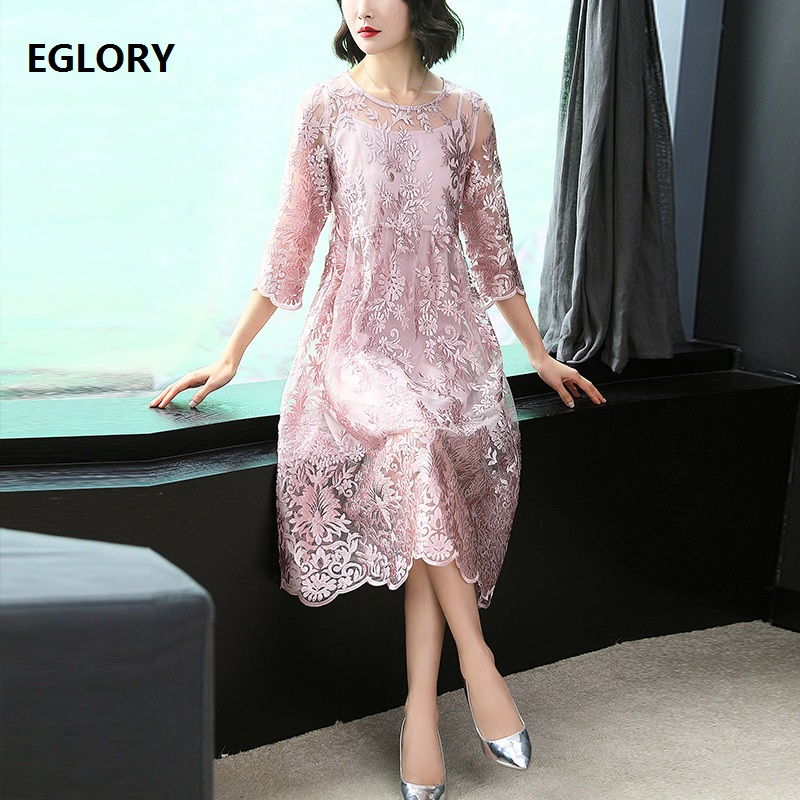 Sweet Cute Princess Dress Summer Style 2018 Women Lurex Embroidery O-Neck A-Line Boutique Dress Elegant Ladies Special Occasion summer special style 100