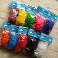 4 компл./лот Резина Loom группы Kit Для Заправки DIY Браслеты (600bands 600 s-клипы/Set)