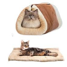 Милый Кот Спальный Мешок Теплый Pet Bed Для Маленьких Кошек И собака Кошка Дом Прекрасный Мягкий Pet Cat Мат Подушки Товары Для Животных моющиеся