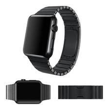 2015 pulsera del acoplamiento para apple watch band 1:1 original hebilla de mariposa con espacio negro y plata correa de acero inoxidable de 38mm/42mm