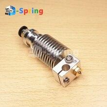 V6 Hotend длинные экструдер Медь сопла комплект для 3D-принтеры 1,75 мм 3 мм Титан PTFE тефлон отделочных печатающей головки